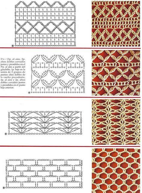 Graficos De Puntos Calados De Crochet | solo puntos crochet puntos calados
