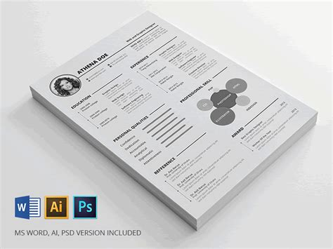 indesign resume template 20 beautiful free resume templates for designers