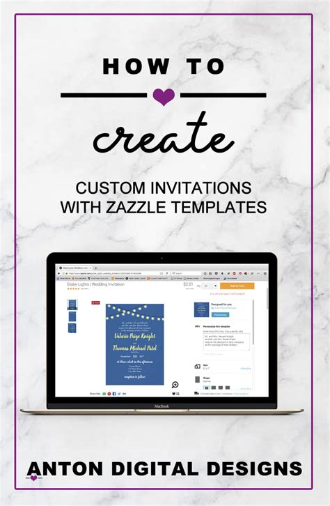 how to create custom invitations with zazzle templates