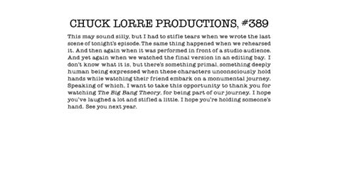 The Big Theory End Credit Vanity Cards by Kismetkissed Chuck Lorre S Vanity Cards