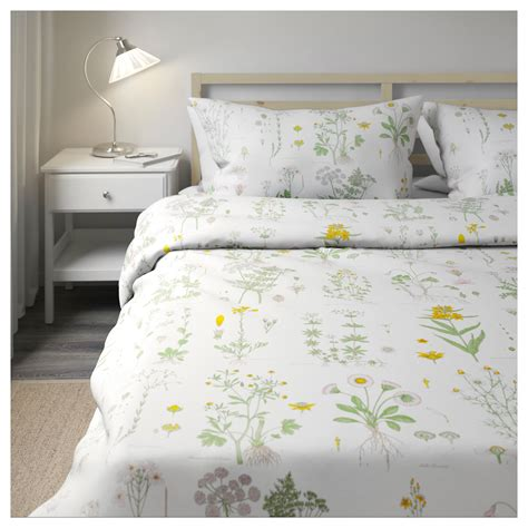 ikea comforters strandkrypa quilt cover and 4 pillowcases floral patterned