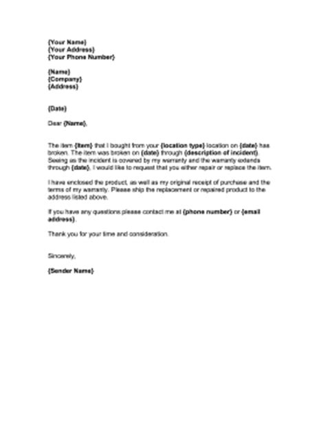 Car Service Request Letter Repair Warranty Request Template