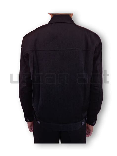 Manset Panjang Pria jual jaket pria manset zipper bahan formal casual