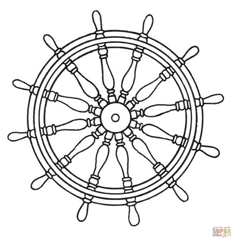 ship wheel template nautical ship wheel coloring pages coloring pages