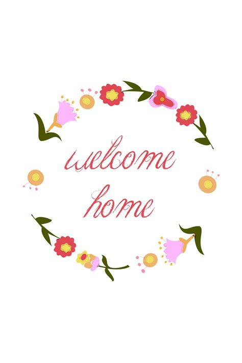 welcome back card template welcome home printable sugar bee crafts