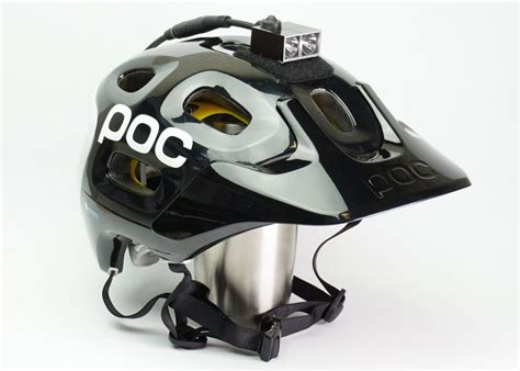 mountain bike helmet lights reviews amoeba helmet light on a poc helmet mtbr com
