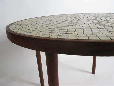 Ceramic Tile Top Dining Table Walnut And Ceramic Tile Dining Table By Gordon Martz At 1stdibs
