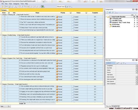 work task list template