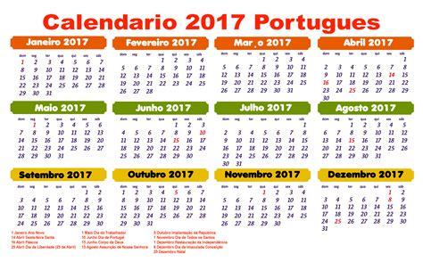 Calendã 2017 Portugal Para Imprimir Calend 225 2017 Feriados Para Baixar E Imprimir Toda