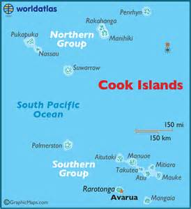cook islands world map american samoa large color map