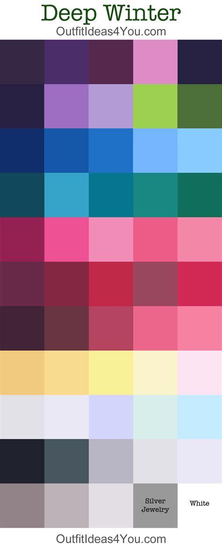 winter color schemes deep winter seasonal color palette deep winter winter