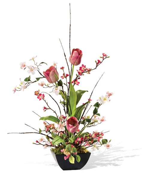 cherry blossom arrangements shop cherry blossom dogwood tulip silk flower arrangements at petals