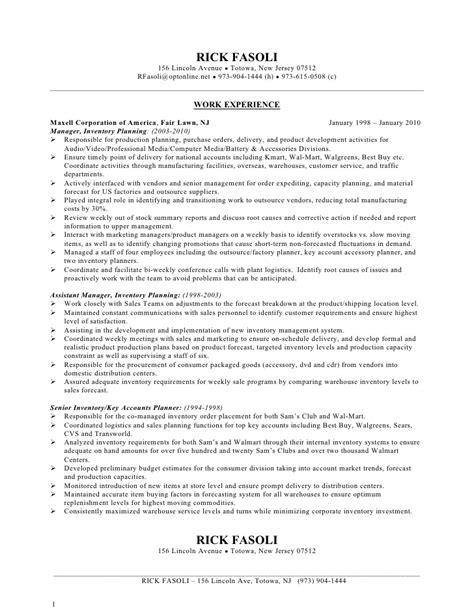 walmart department manager resume resume ideas