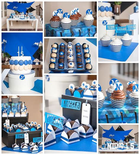 party themes blue blue and white party decor teen party decor for boy bar