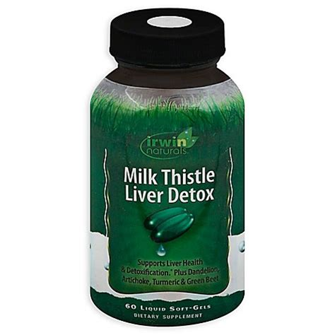 Does Milk Thistle Help With Detox by Irwin Naturals 174 60 Count Milk Thistle Liver Detox Liquid