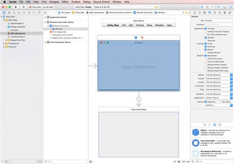 xcode tutorial interface builder hello mac xamarin