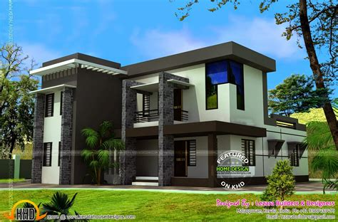 modern roof design modern flat roof house with bhk kerala home design and