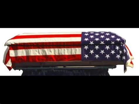 flag draped casket tom sawyer flag draped coffin youtube