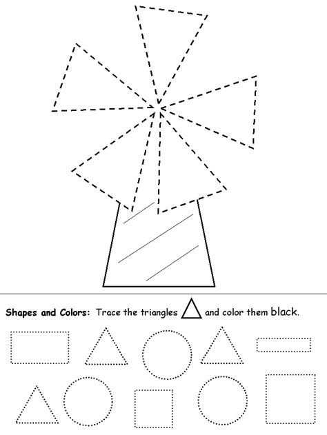 triangle printable worksheets for preschoolers tracing triangles grafomotricidad pinterest