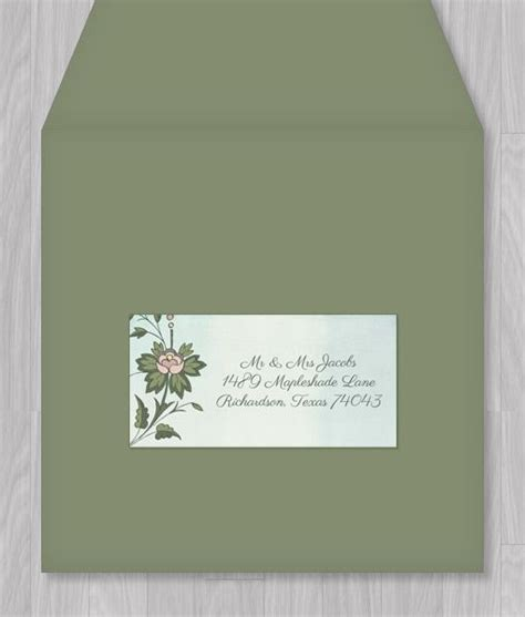 template for wedding address labels watercolor flowers address label template discover more