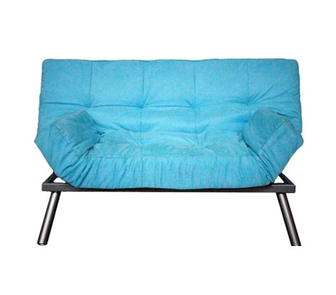 College Sofa the college cozy sofa mini futon aqua