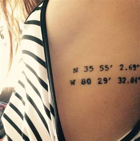 coordinate tattoos 66 adventure coordinates ideas for your next trip