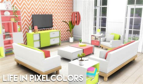 Livingroom Tiles by The Plumbob Architect Life In Pixelcolors Livingroom