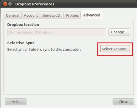 dropbox selective sync how to upgrade your dropbox to version 1 0 in ubuntu