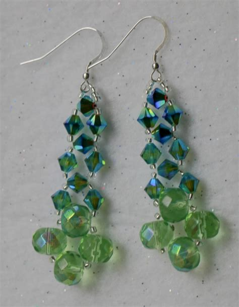 Bead Dangle Earrings dangle earrings swarovski earrings beaded