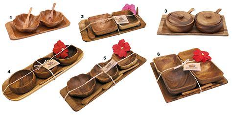 Tray Set Hawaii wooden condiment set tray