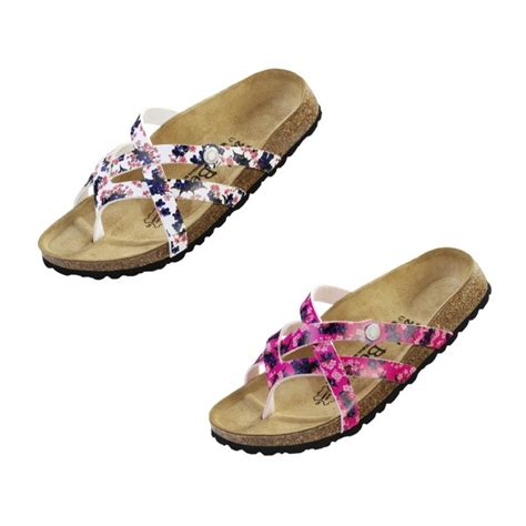 narrow width sandals betula by birkenstock vinja sandals white pink narrow