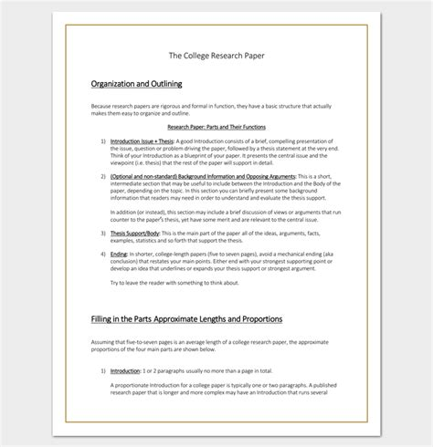 qualitative research template qualitative research paper outline