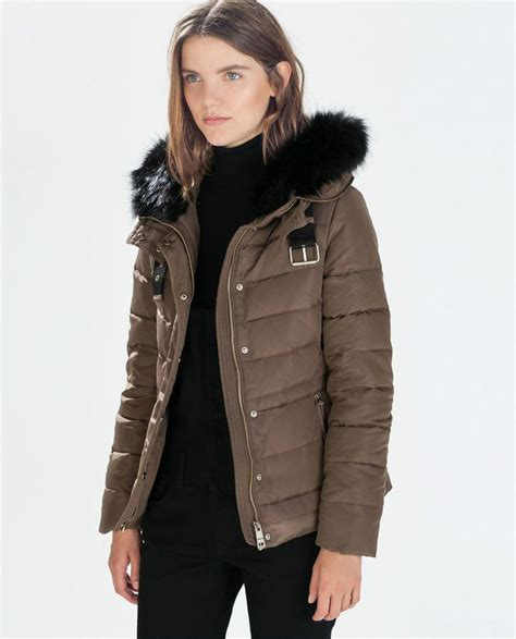 Pull And Anorak Quilted Jacket Black zara bnwt mink quilted anorak with fur puffer coat jacket m 8073 225 winter is