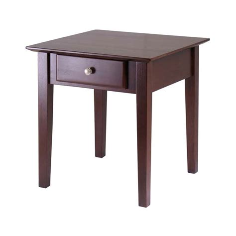 Winsome Wood Rochester End Table Antique Walnut 94821