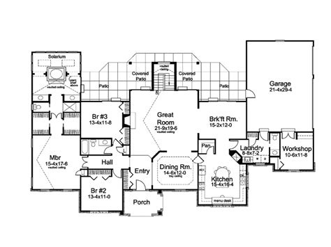 country one story house plans solarium one story home plan 007d 0186 house plans and more