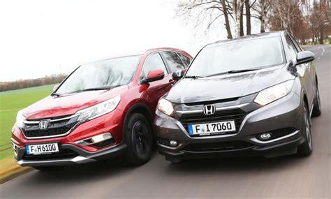 Honda Cr V Kofferraumvolumen by Honda Cr V Hr V 1 6 I Dtec Test Autozeitung De
