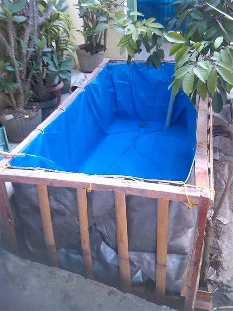 Terpal Kolam Kotak 25x1x1 A12 kolam terpal budidaya ikan bentuk kotak bulat hub