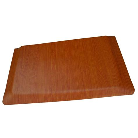 Kitchen Mat Vinyl Rhino Anti Fatigue Mats Cherry Wood Grain Surface 24 In X