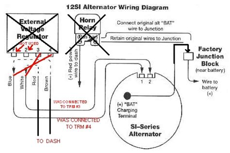 wiring a si alternator wiring and parts diagram