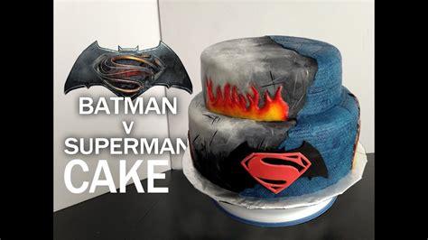 batman  superman cake gateau original youtube