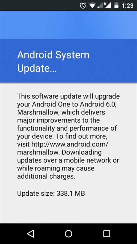 android app update notification update ota links for 8 devices marshmallow landing on