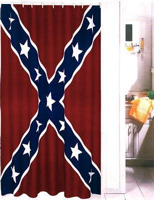 rebel flag curtains new rebel flag confederate dixie heritage fabric shower