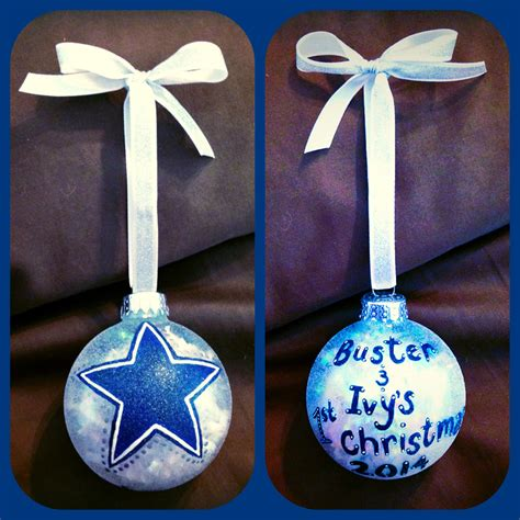dallas cowboys christmas ornament hand by wattsgoodartistry