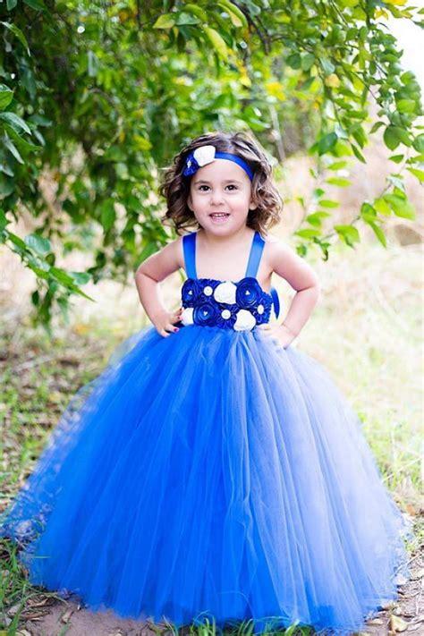 Baby Elsa Flower Blue the quot quot dress flower tutu dress royal