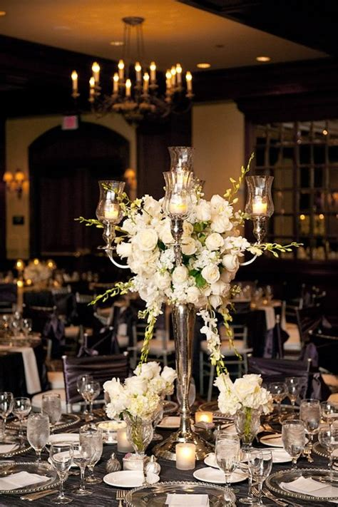 ivory candelabra centerpieces reception table table settings and receptions on
