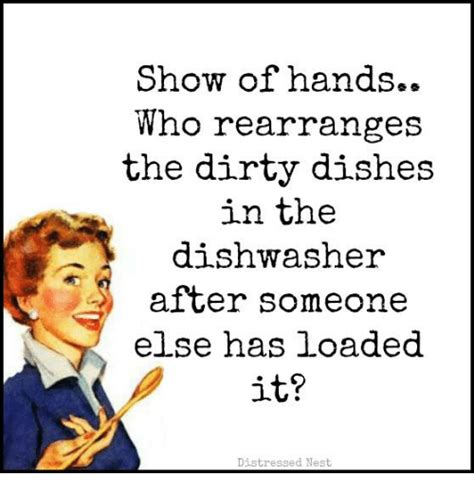 show  hands  rearranges  dirty dishes