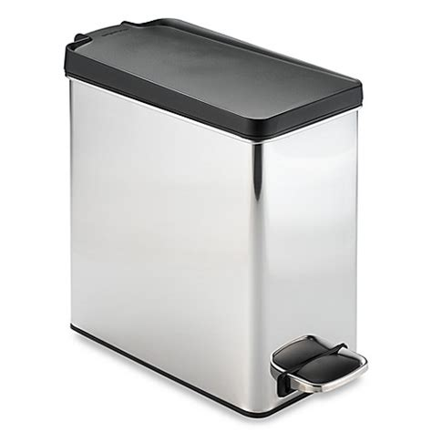 simplehuman bathroom trash can simplehuman 174 brushed stainless steel 10 liter profile step