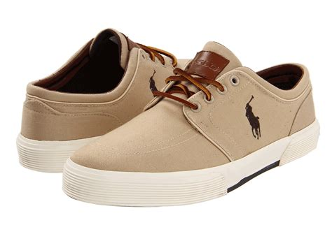polo shoes polo ralph faxon low khaki canvas zappos free