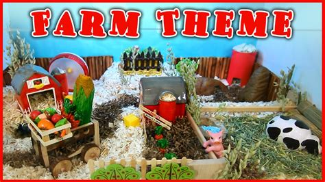 farmers weekly xmas theme farm themed hamster cage