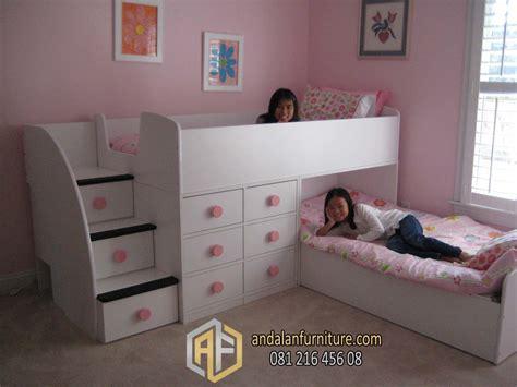 Ranjang Tidur Minimalis tempat tidur tingkat anak kembar perempuan minimalis